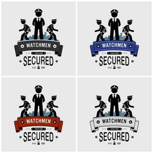 Design der Sicherheitsbeamten. vektor