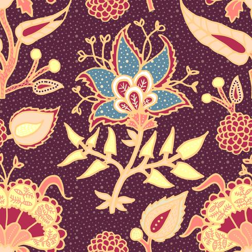 Indian National Paisley Ornament für Baumwolle, Leinenstoffe. vektor