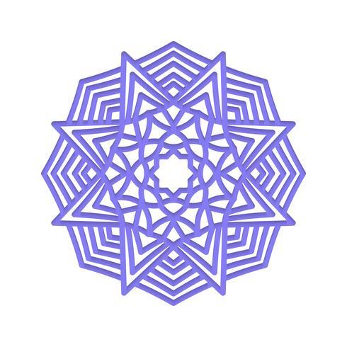 Mandala Indische Hochzeitsmeditation vektor