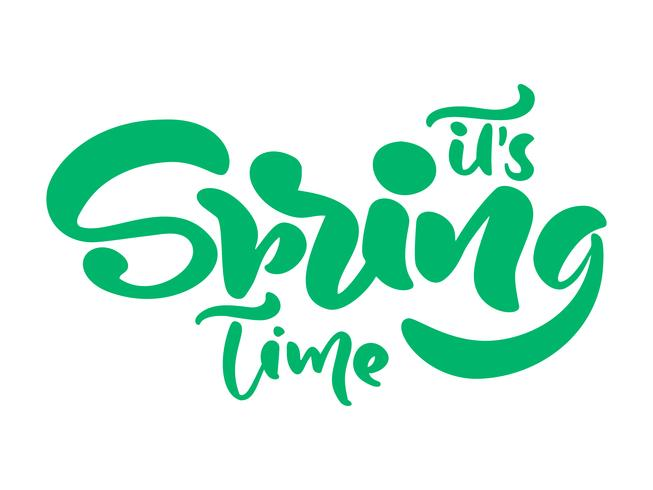Kalligraphiebeschriftungssatz seine Frühlingszeit vektor
