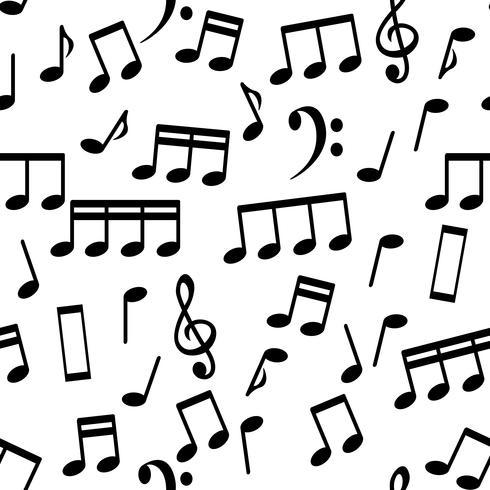 Musikalische Anmerkungen, nahtlose Muster-Hintergrund-Vektor-Illustration vektor