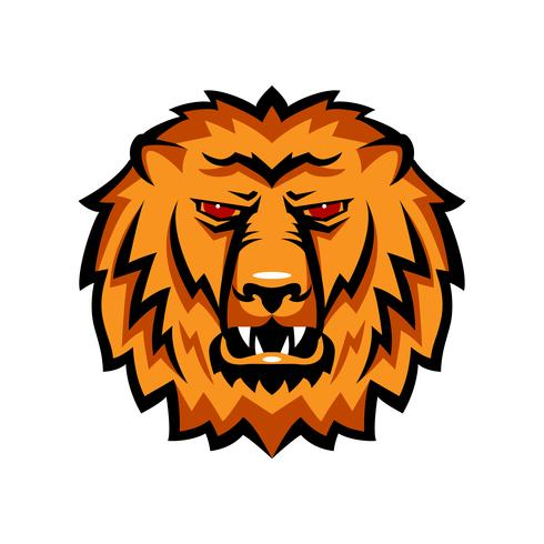 Maskot i en lejons nosparti. vektor
