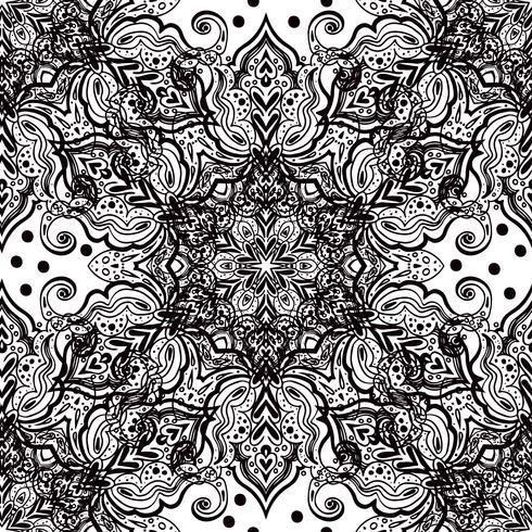 Sömlös orientalisk prydnad i stil med barock. vektor