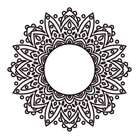 Mandalas Ethnische dekorative Elemente in einem Kreis. vektor