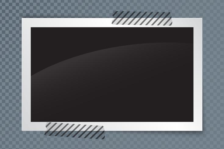 Realistischer Fotorahmen mit Schatten und transparentem Hintergrund vektor