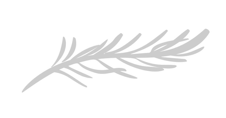 Vektor plana abstrakta gröna växter blomma örter ikon