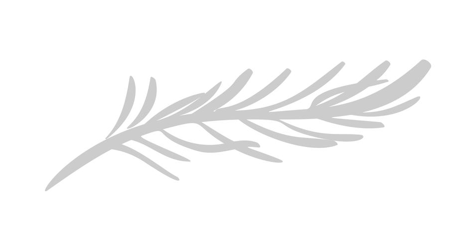 Vektorflache abstrakte Grünpflanzeblumenkrautikone vektor