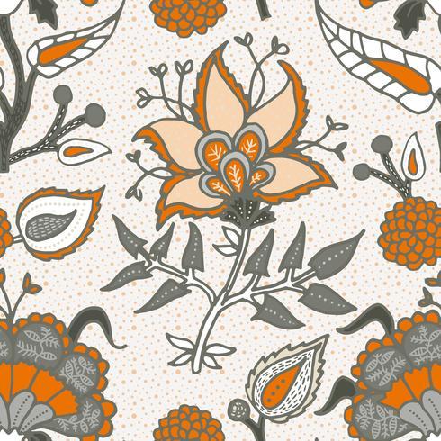 Indian National Paisley Ornament für Baumwolle, Leinenstoffe. vektor