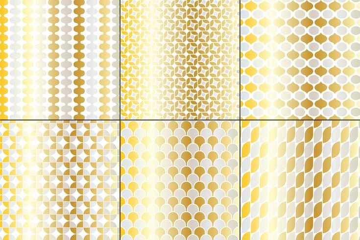 Silber & Gold Big Mod Patterns vektor