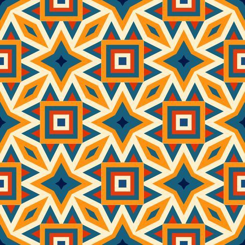 Retro olika sömlösa mönster kakel. vektor