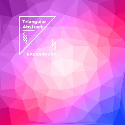 Dreieckiger polygonaler Hintergrund vektor