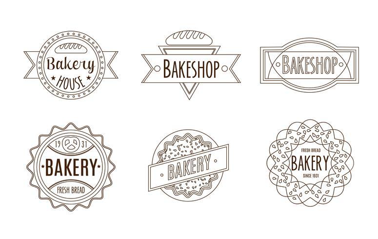 Samling av vintage retro bageri vektor
