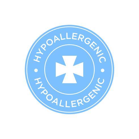 Hypoallergenes blaues Symbol vektor