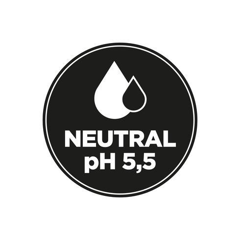 Neutral pH-ikon vektor