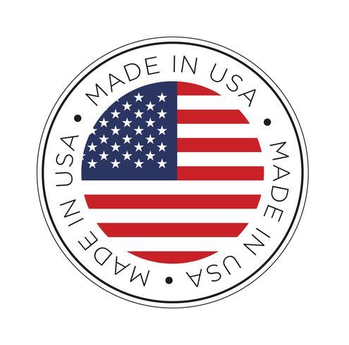 Gjort i USA-flaggikonet. vektor