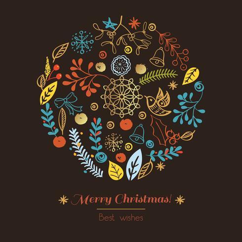 Postkarte Frohe Weihnachten vektor