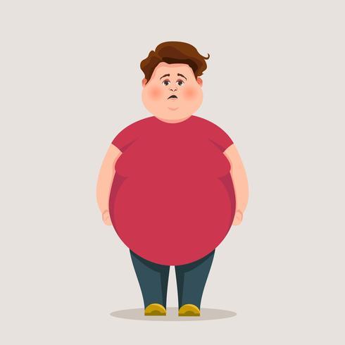 Lustiger fetter Kerl. Vektor-Zeichen. vektor