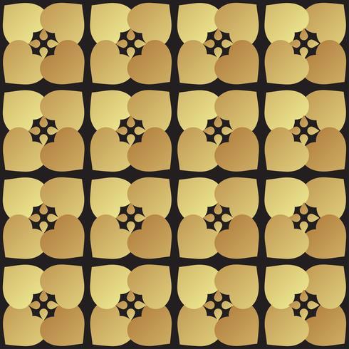 Universal svart och guld sömlösa mönster kakel. vektor