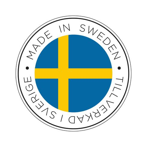 Made in Sweden-Kennzeichnungssymbol. vektor