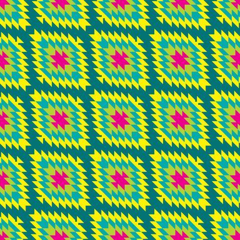 Mexican Folkloric tracery textil sömlösa mönster vektor