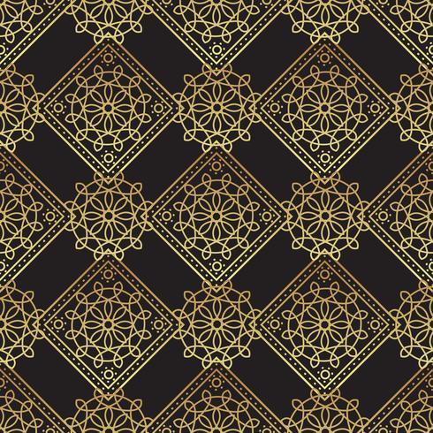 Weinleseluxusgoldhintergrund Art Deco vektor