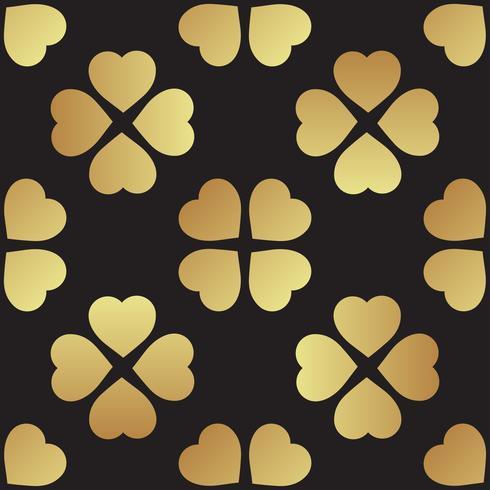 Guld sömlöst mönster med klöverblad, symbolen för St. Patrick Day i Irland vektor