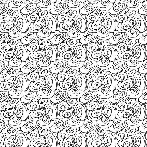Nahtlose stilvolle Hand gezeichnete Muster. vektor