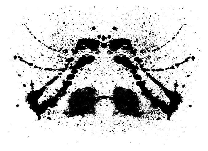 Rorschach-Inkblot-Test vektor