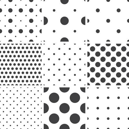 Satz einfarbige geometrische nahtlose Universalmuster, Fliesen. vektor
