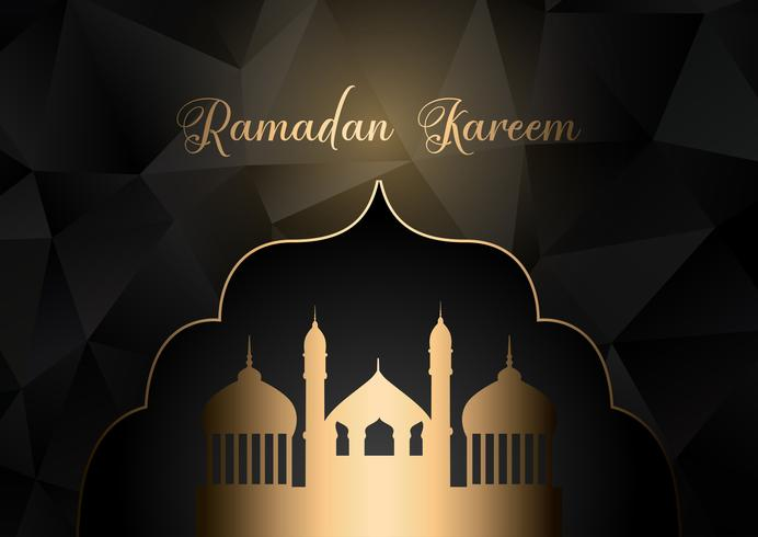 Låg poly Ramadan Kareem bakgrund vektor