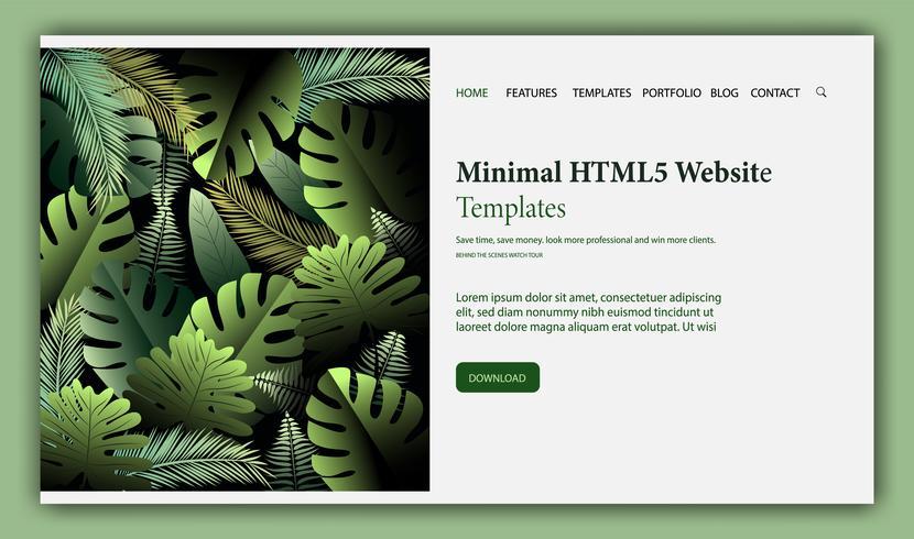 Webbdesign mall för skönhet, naturliga produkter vektor