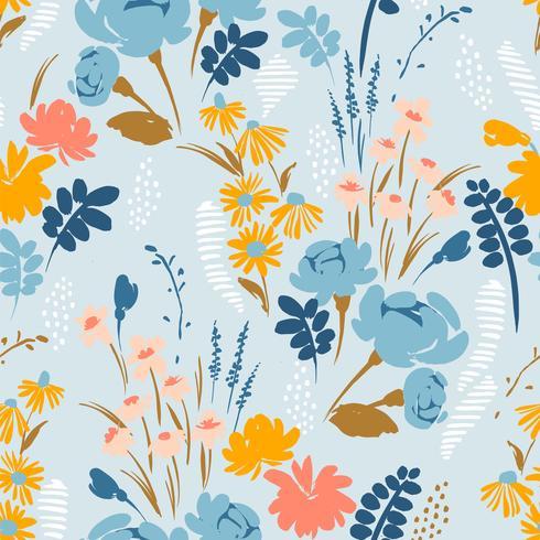 Blom- abstrakt sömlös mönster. Vektor design för olika surfaser.