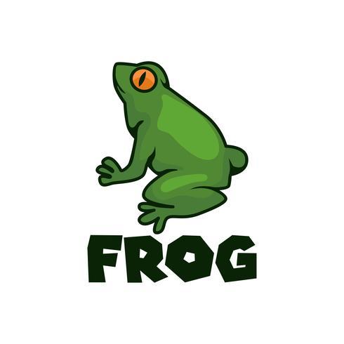 grünes Froschlogo vektor