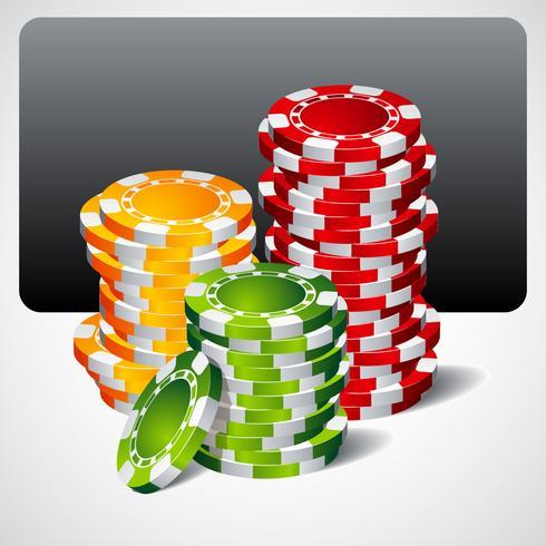 spelillustration med pokerchips vektor