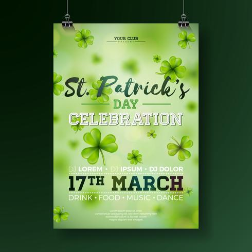 St Patrick's Day Party Flyer Illustration vektor