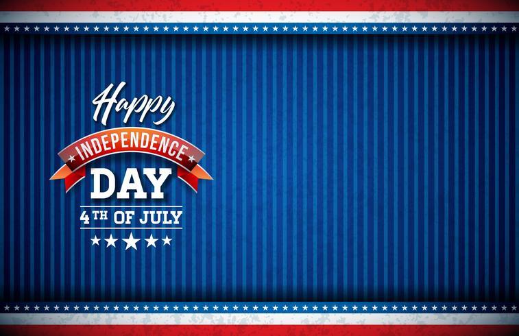 Glücklicher Unabhängigkeitstag der USA-Vektor-Illustration vektor