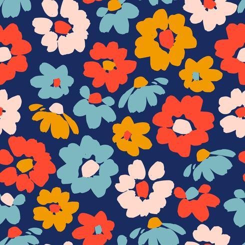 Blommigt sömlöst mönster. vektor