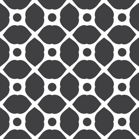 Einfarbige geometrische nahtlose universelle Musterfliesen. vektor