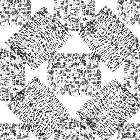 Seamless stilfullt handgjorda mönster. vektor