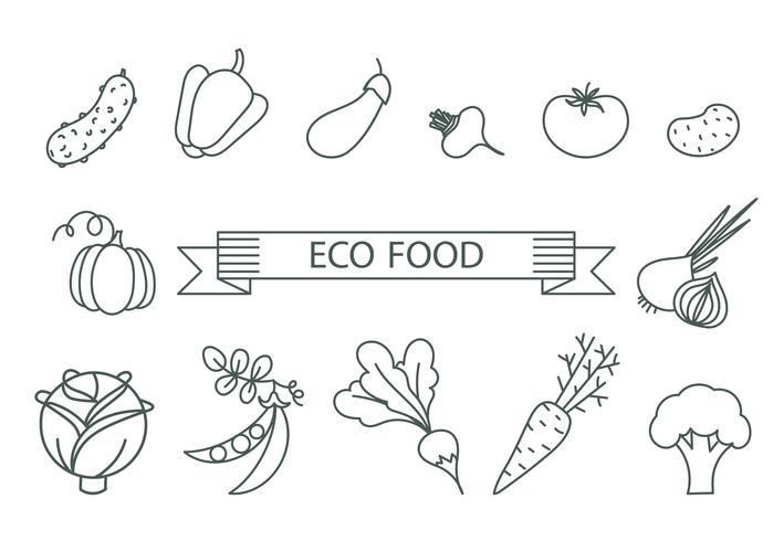 Konzept der gesunden Ernährung. vektor