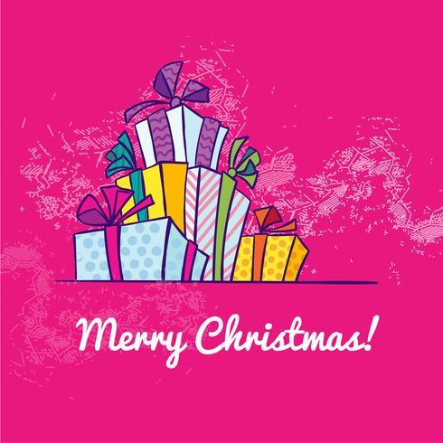 Presentförpackning jul vektor