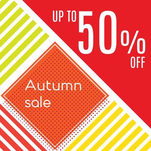 Orange Herbst-Sonderverkauf vektor