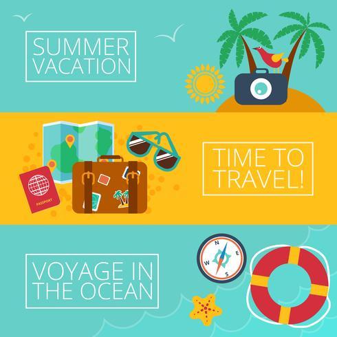 Konzepte und Banner der Reise, Sommer vektor
