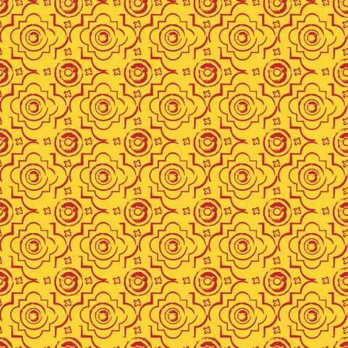 Sömlös bysantinsk stil bakgrund vektor