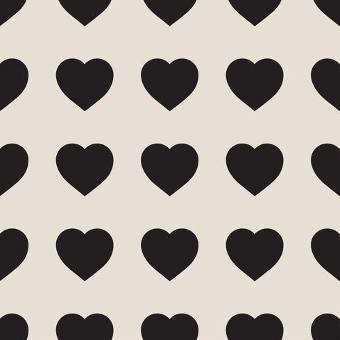 Einfarbiges nahtloses Muster mit Herzen vektor