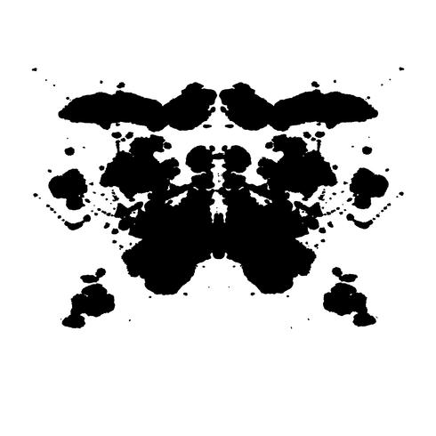 Zufälliger abstrakter Hintergrund des Rorschach-Inkblot-Tests vektor