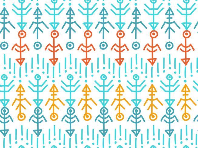 Ethnisches nahtloses Muster. Aztekischer Hintergrund. vektor