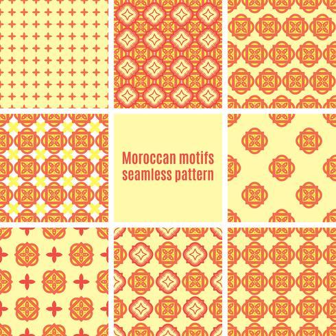 Sats av arabiska sömlösa mönster, vektor