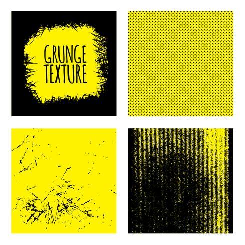 Grunge texturer ställa bakgrund vektor