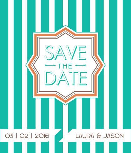 Spara datum för personlig semester. vektor